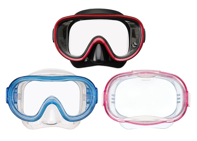 ReefTourerのシュノーケリング用のマスク(水中メガネ)